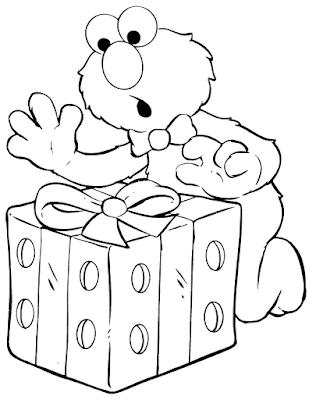 Gambar Mewarnai Elmo - 6