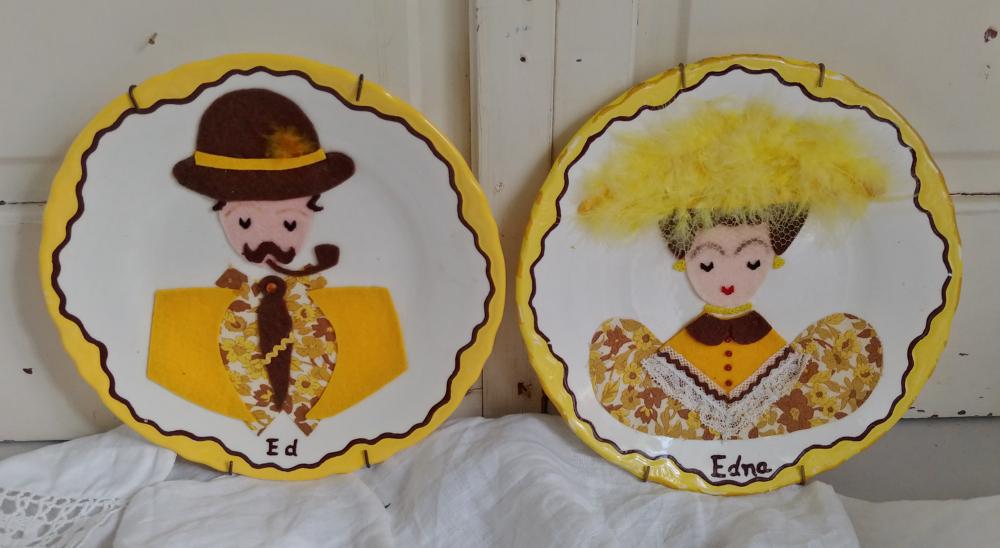 kitschy decorative plates