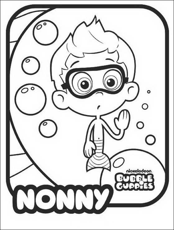 Bubble Guppies Coloring. bubble guppies coloring pages coloring ...