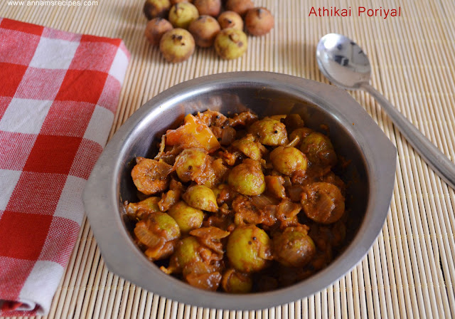 Athikai Poriyal/ Fig Fry