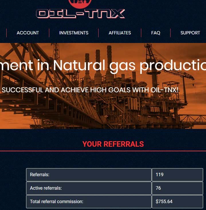 Активность инвесторов в OIL-TNX