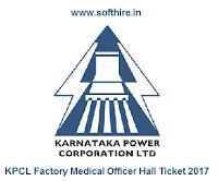 KPCL Factory Medical Officer Hall Ticket
