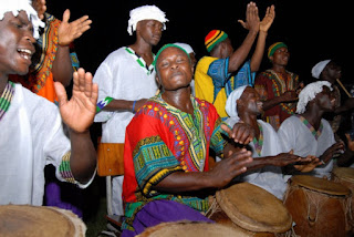 Feeling and hearing the African drum beat