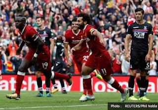 Video Cuplikan Gol Liverpool vs Arsenal 4-0