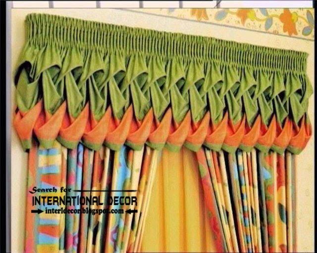 Unique window valances, orange and green curtain valance ...