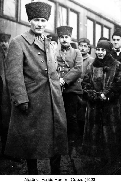 Atatürk Halide Hanım Gebze 1923 Fotoğraf
