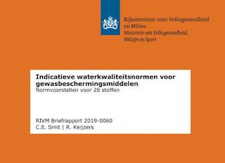 cover uitsnede Indicatieve waterkwaliteitsnormen voor gewasbeschermingsmiddelen: normvoorstellen