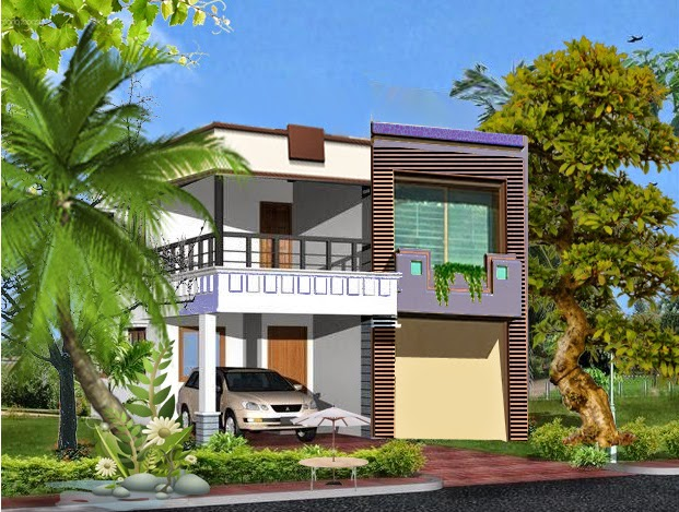 Front Elevation Of Houses In Lahore : Marla house front elevation in lahore