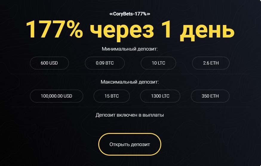 Инвестиционные планы CoryBets 9
