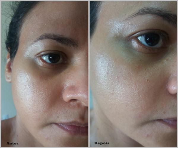 Fusion water aplicado no rosto