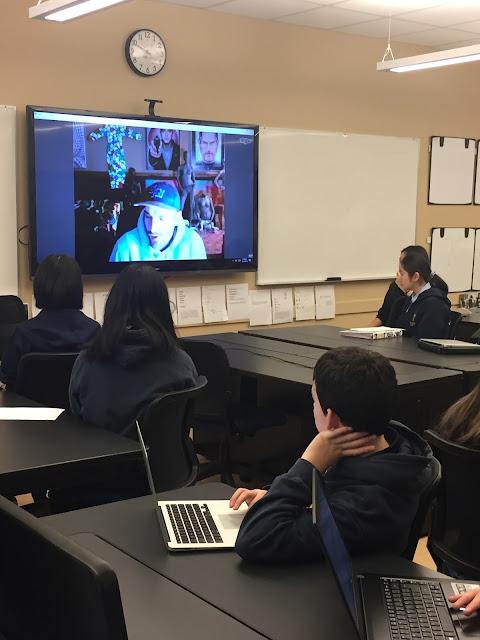 Ben Heine - Mahasti Mofazali - Collingwood School - Skype Conference - 2016