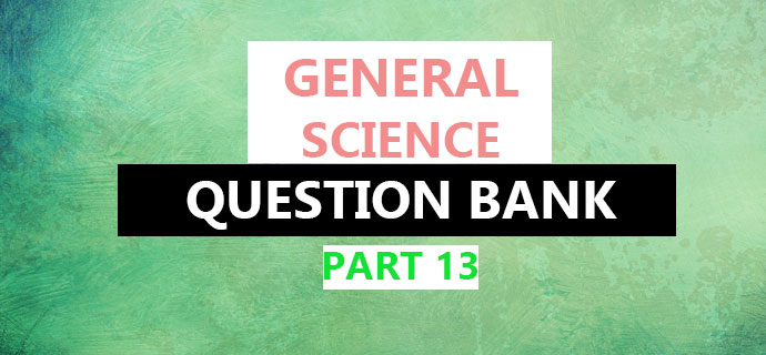 PSC GS Question Part 13