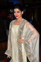 Samantha Ruth Prabhu cute in Lace Border Anarkali Dress with Koti at 64th Jio Filmfare Awards South ~  Exclusive 008.JPG