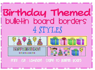 birthday bulletin board borders