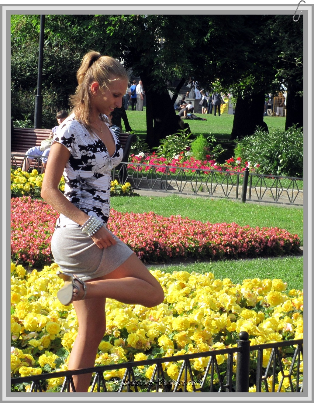 Russian Girl and Flowers