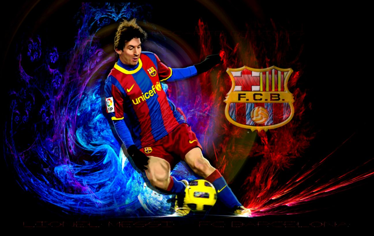 Football Wallpapers 23: Lionel Messi Fc Barcelona Wallpaper Action Shot