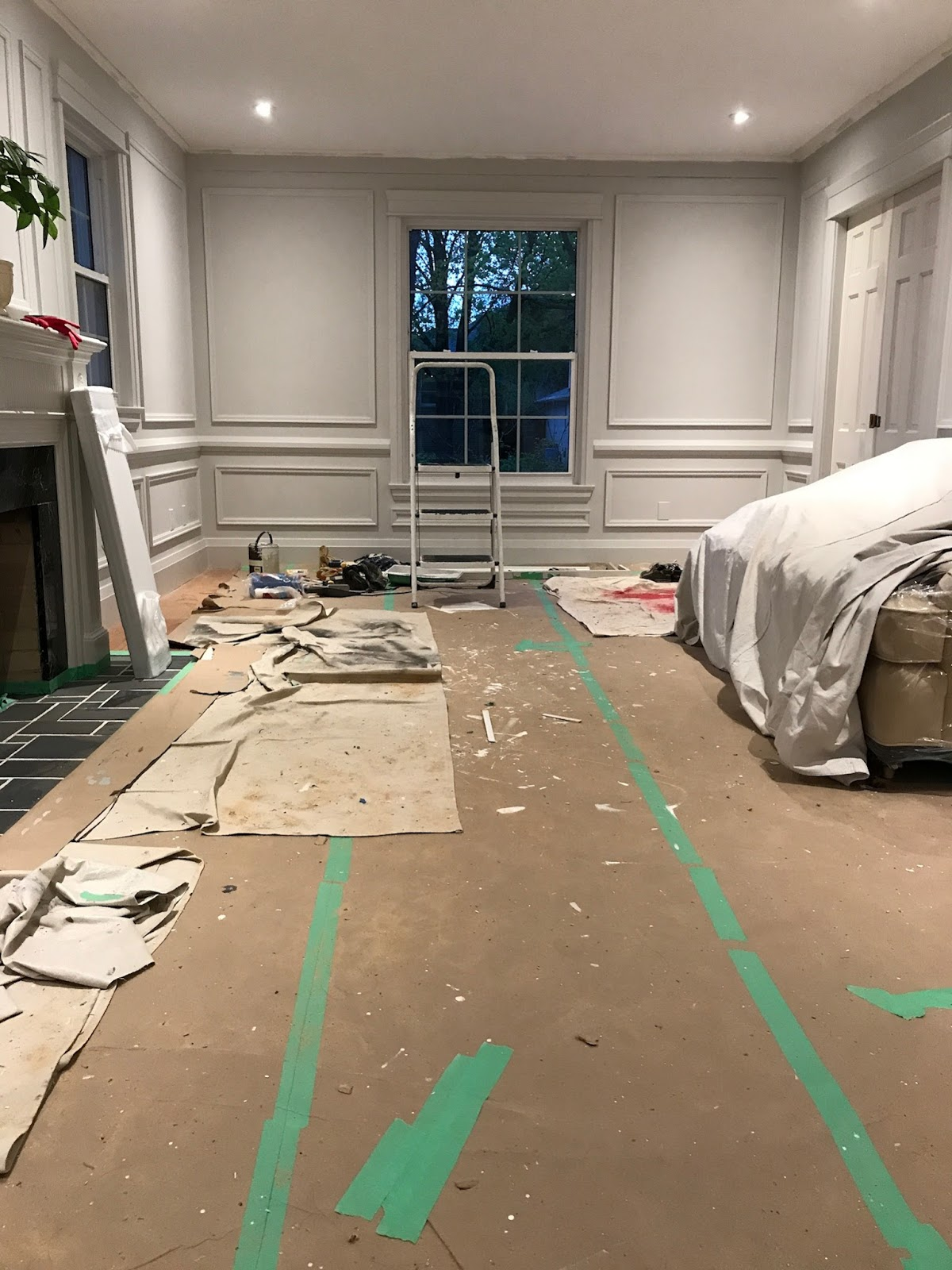 living room remodel, living room renovation, traditional living room decor, living room wall trim, one room challenge living room