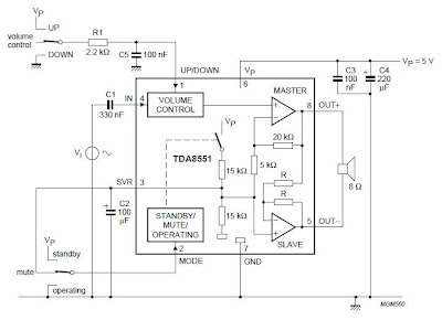 Low Cost Digital Volume Control Amplifier | Collection Schematic