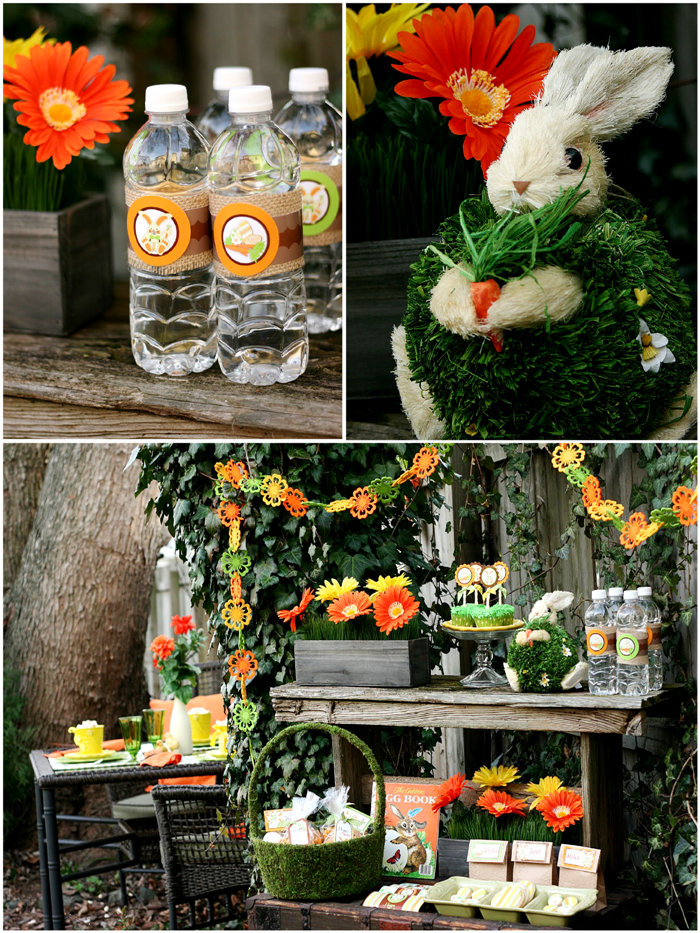 Easter Party Ideas: Peter Cottontail's Secret Garden Inspired Party Decor