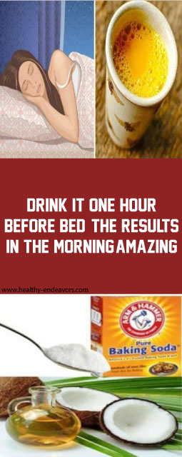 Drink It One Hour Before Bed! The Results In The Morning, Amazing