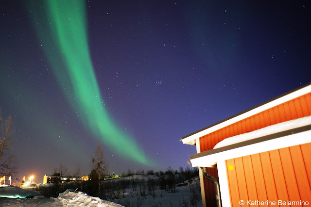 Northern Lights Over Camp Ripan Cabins Hotels in Sweden