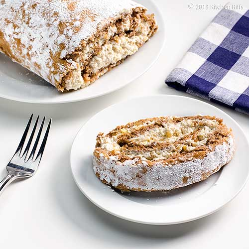 Walnut Roll Cake