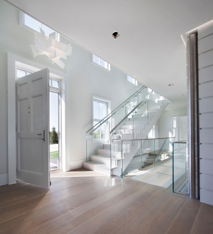 Entrance hallway in Contemporary style home on the beach