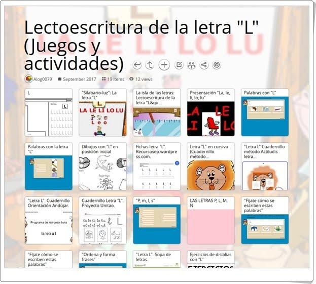 """""""25 Juegos, actividades y materiales para el ejercicio de la LETRA L"""""""