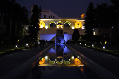 Night view at the historical Pinjore gardens
