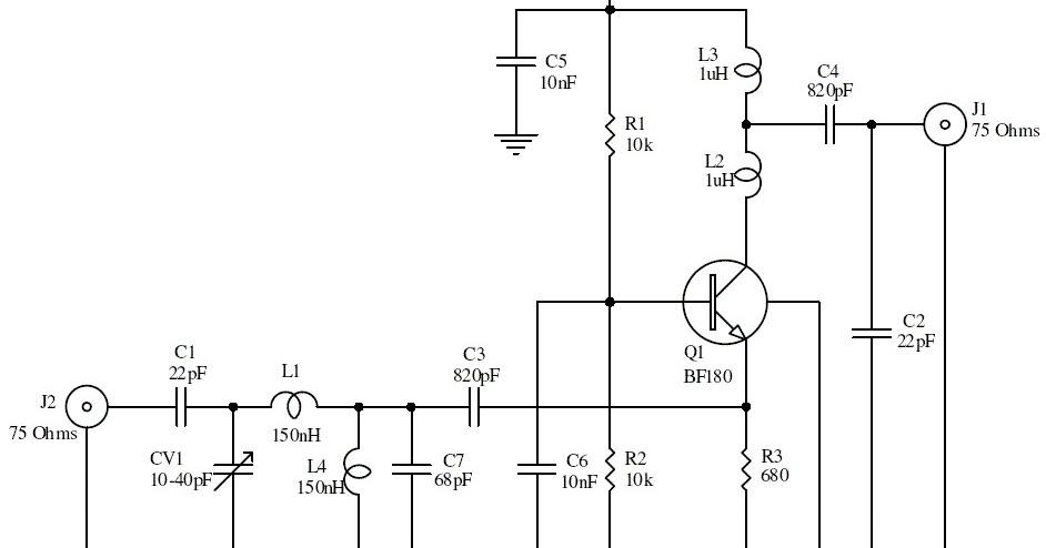 15db uhf tv antenna booster wiring diagram reference