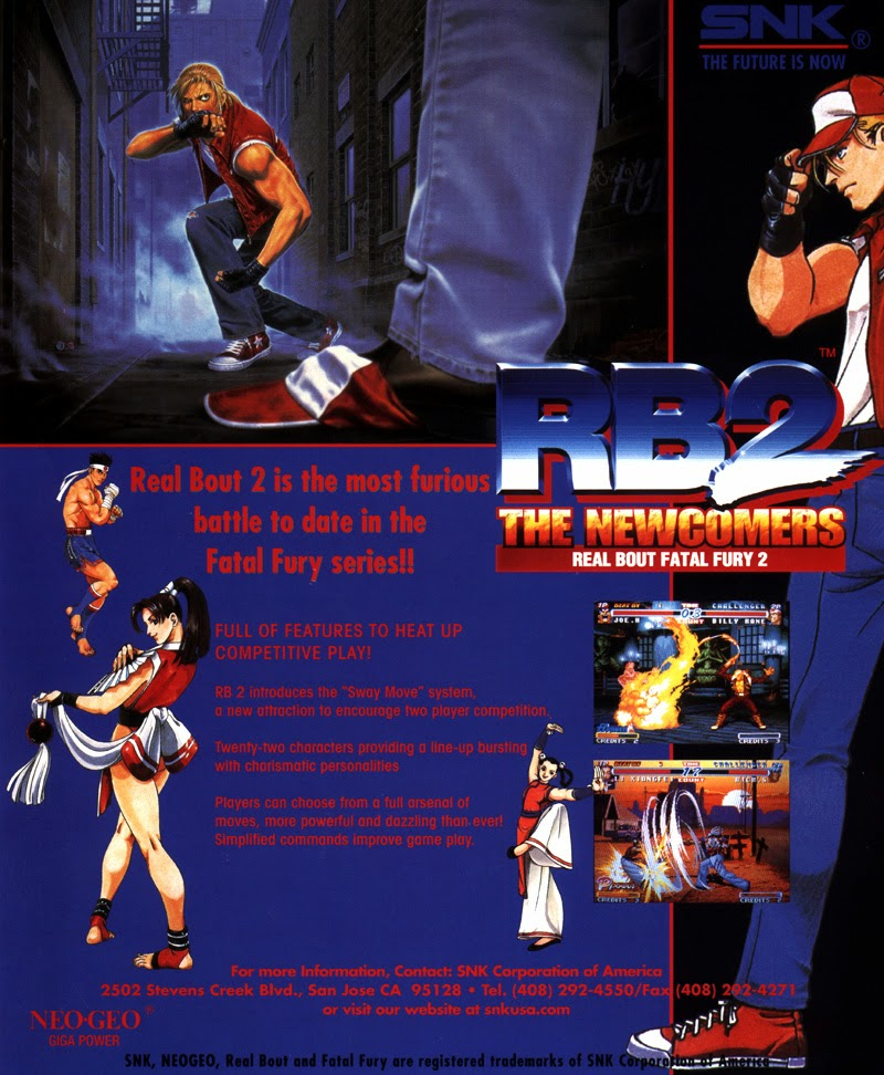 Real Bout Fatal Fury 2: The Newcomers+arcade+game+portable+art+flyer