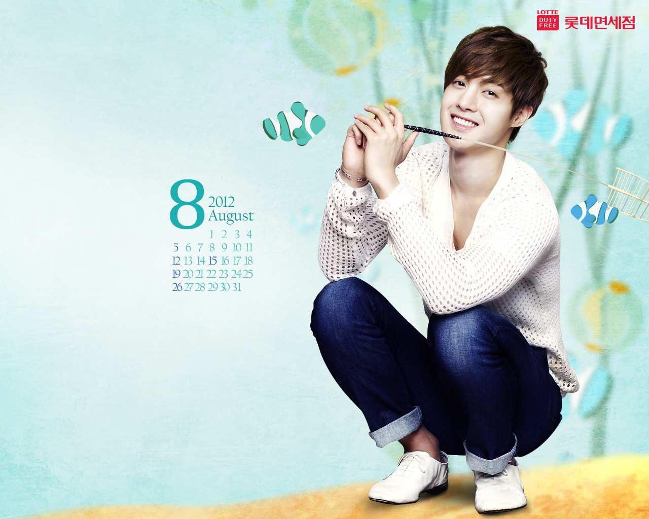 Google themes korean - Google Theme Kim Hyun Joong Pics Kim Hyun Joong Lotte Duty Free August 2012 Wallpaper
