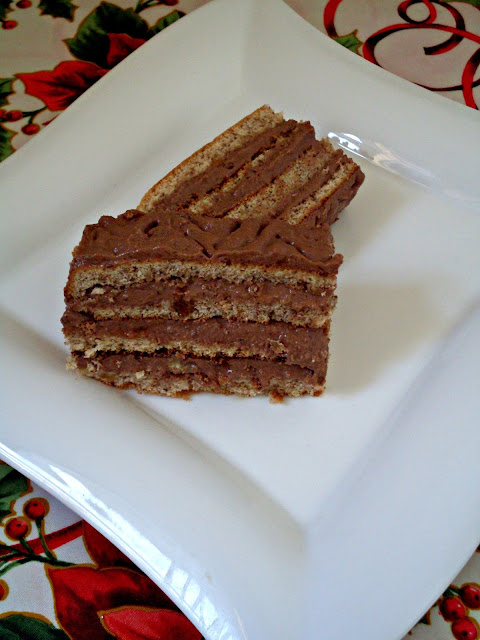 Čokoladna torta sa orasima panj torta Gaga grne