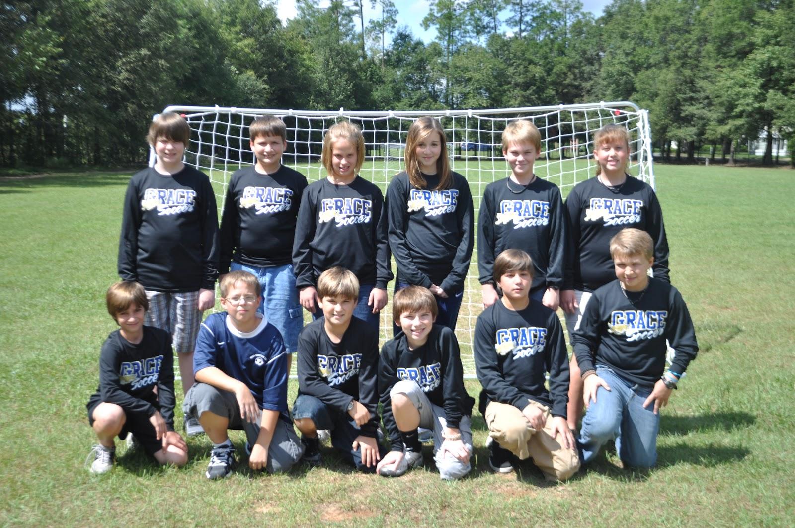 Grace Christian Academy Gca Middle School Soccer Team