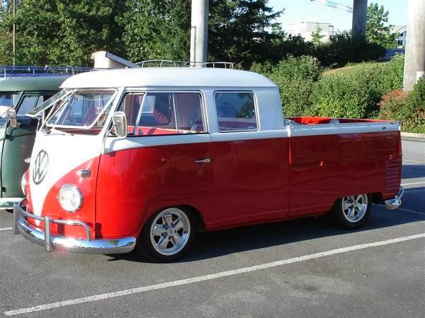 66 vw t1 double cab vw bus wagon. Black Bedroom Furniture Sets. Home Design Ideas