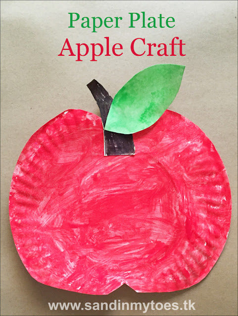 Busy Hands Paper Plate Apple Craft Sand In My Toes