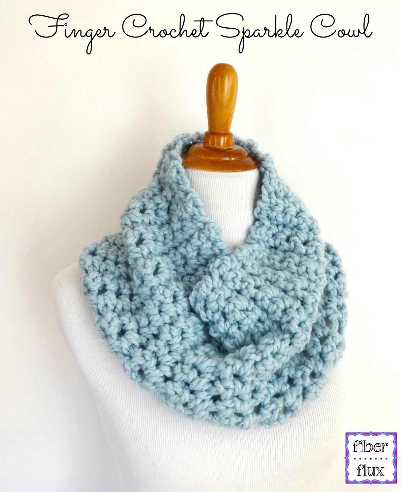 Fiber Flux: Free Crochet Pattern...Finger Crochet Sparkle ...