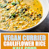Vegan Curried Cauliflower Rice Kale Soup