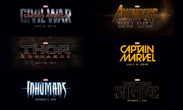 Marvel Film Annunciati Confronto