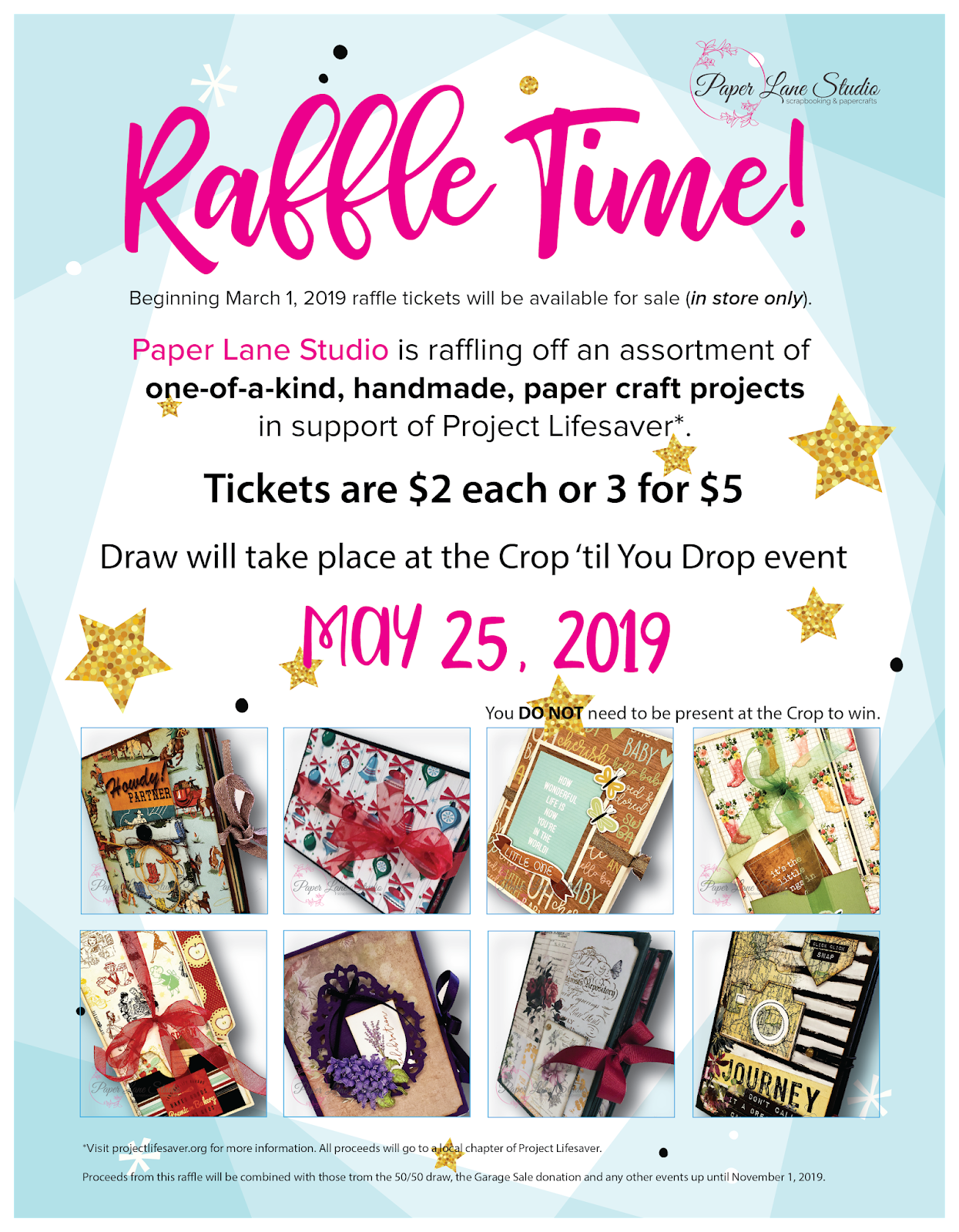 Paper Lane Studio: Charity Raffle and Information for