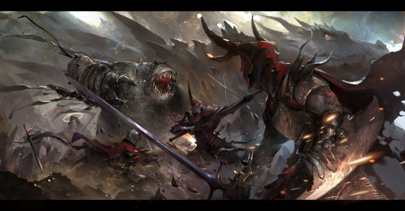 Dante Liu artstation arte ilustrações fantasia games sombrio