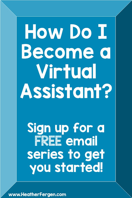 How do I become a virtual assistant? If that question has ever crossed your mind, you're going to love this FREE email series. Here you'll learn the basics to get started as a VA. Make a little extra money each month as a side hustle or side gig. OR turn this into your full-time income! You can supplement your retirement by working a few hours a week at home, leave your full time position to stay home with your kids, or kick your part-time job to the curb & work in your pajamas. #workfromhomemom