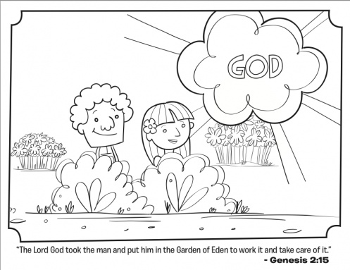 Adam Eve Coloring Pages