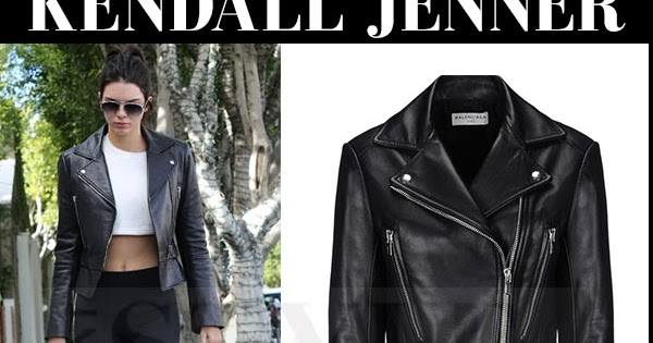 fc8299cd22 Kendall Jenner in black leather biker jacket with marble print sneakers in  LA on January 4 ~ I want her style - What celebrities wore and where to buy  it.