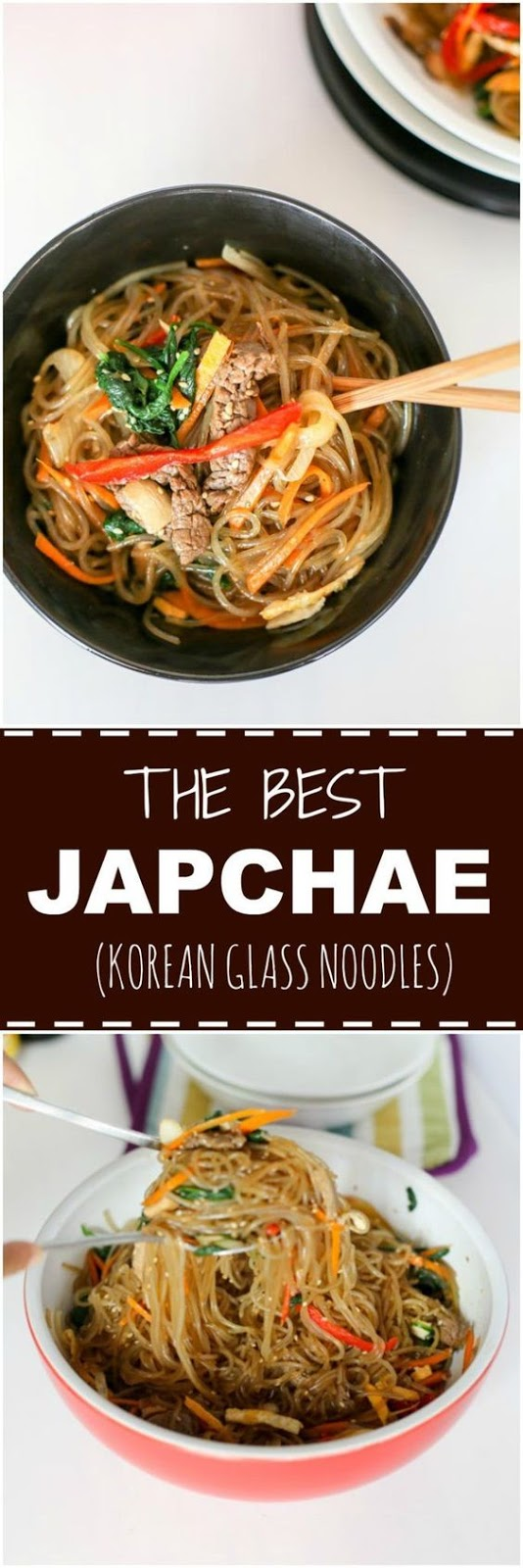 Japchae (Korean Glass Noodle Stir Fry)