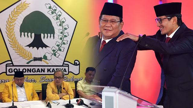 Survei Kompas: 41,7% Kader Golkar Dukung Prabowo - Sandi