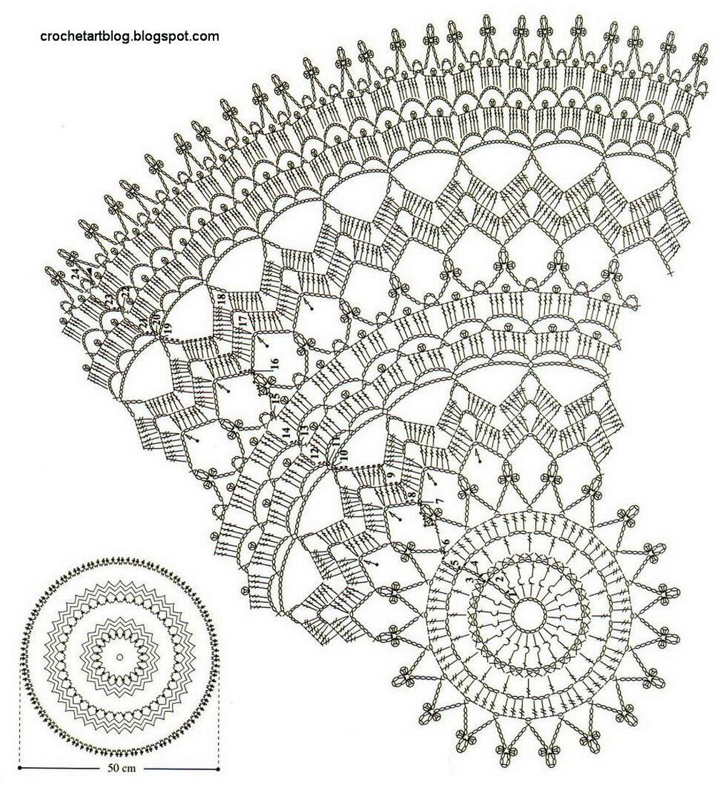 Doilies With Diagrams Large Circular Doily