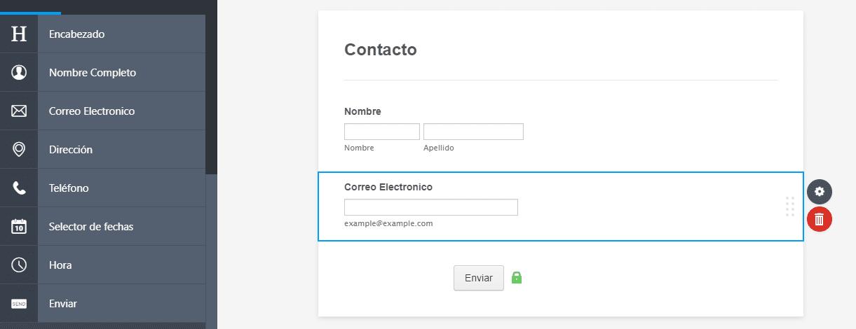 jotform tutorial español input email correo