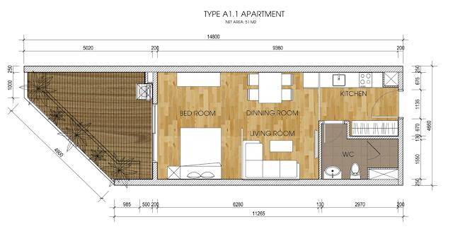mặt bằng căn hộ the two residence