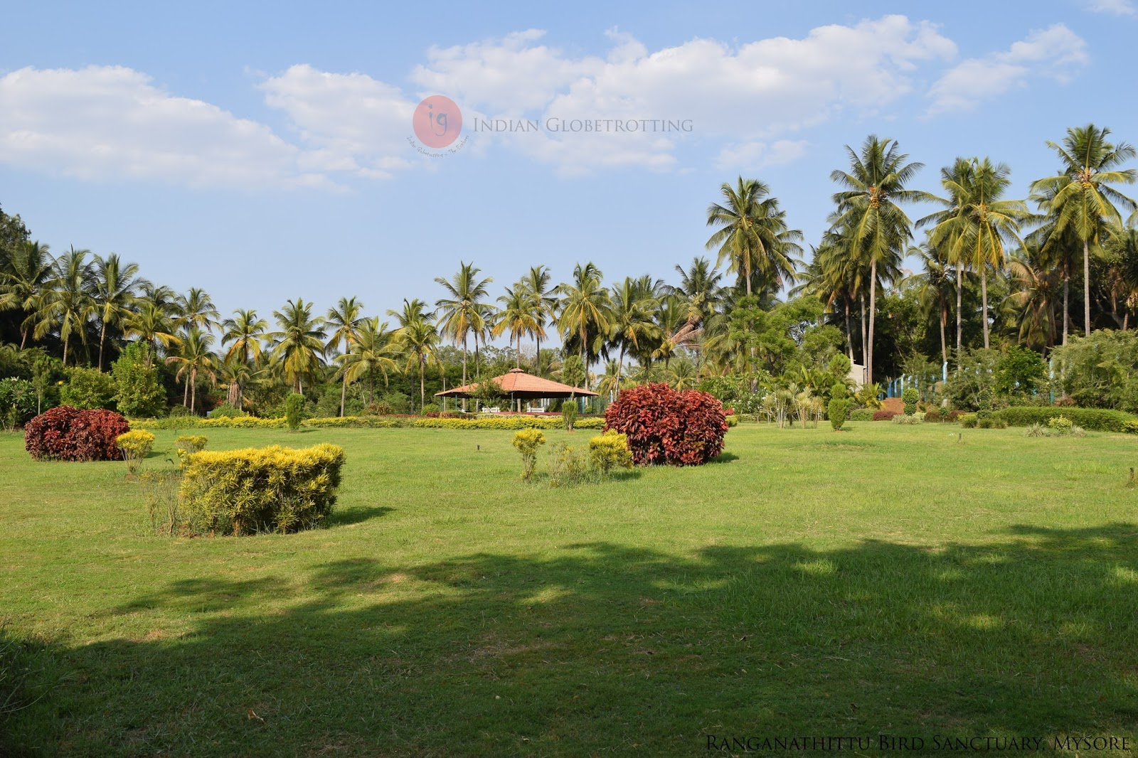 A well maintained garden in Ranganathittu Bird Sanctuary